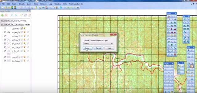 Trích lược bản đồ với công cụ hỗ trợ trong Mapinfo
