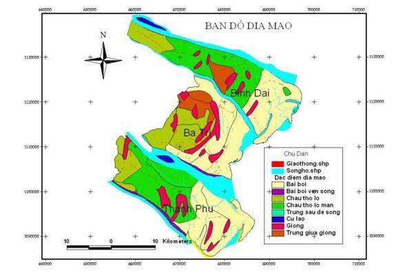 Ứng dụng GIS thành lập bản đồ phân vùng thích nghi nuôi trồng thủy sản