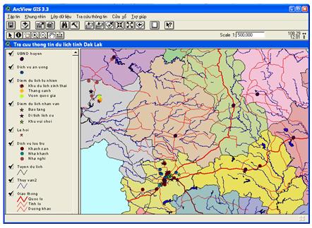 Ứng dụng GIS hỗ trợ tra cứu tin du lịch tỉnh Đắk Lắk