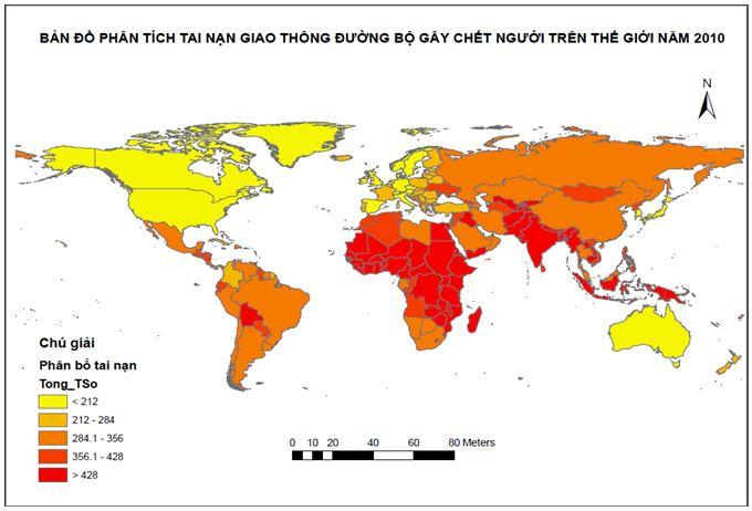 Kết quả phân tích tai nạn giao thông đường bộ trên thế giới